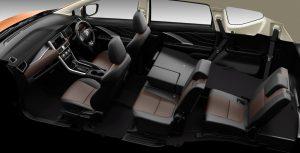 Xpander CROSS เบาะที่นั่งแถวที่ 2 และ 3 แยกพับแบบอิสระซ้าย-ขวา