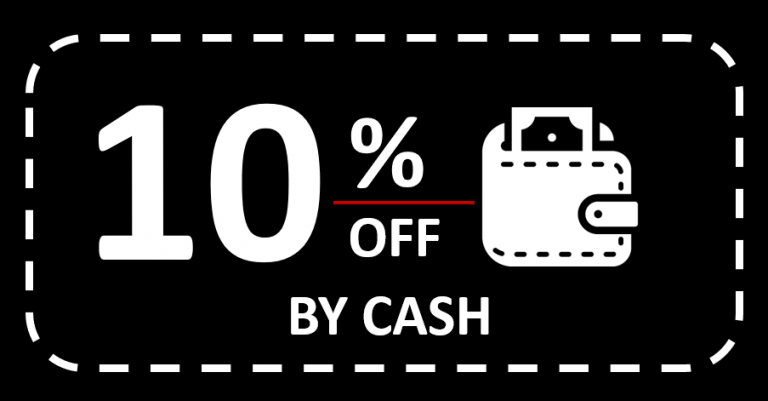 10% OFF paid by cash